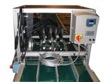 DVD Package Adhesive Dispensing Conveyor System